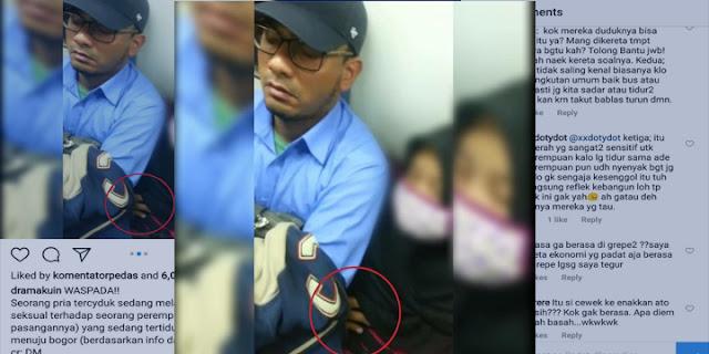 Pria Ini Lakukan Pelecehan di Commuter Line Bogor, Komentar Netizen Pada Korban Bikin Geram, Kok Sampai Hati Bisa....