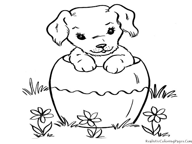 Realistic Coloring Pages Of Dogs Realistic Coloring Pages In Coloring Pages  Of Puppies