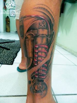Tattoo 3d na perna a tatoo