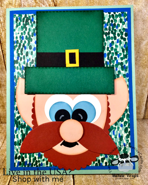 Card, Leprechaun, St Patricks Day, Punch Art