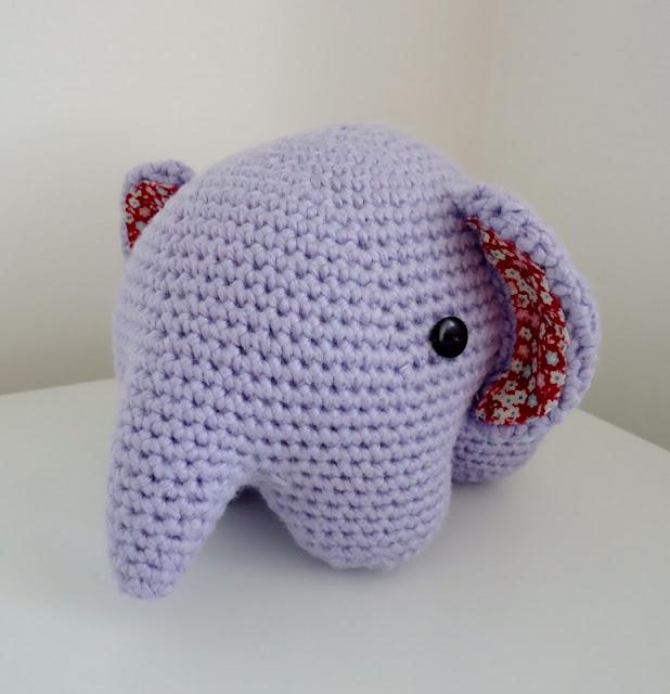 Crochet Amigurumi Elephant Ears : Dinki Dots Craft