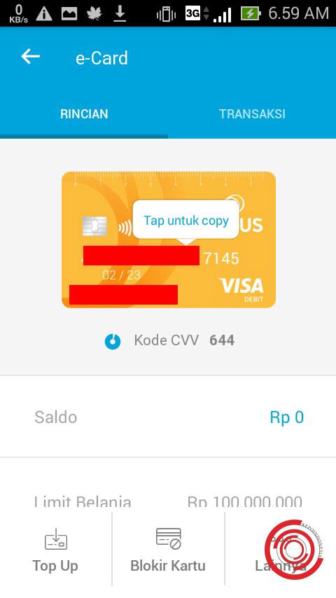 Cara Melihat Nomor E Card Jenius Btpn Seperti Cvv Dan Nomor Kartu Kepoindonesia