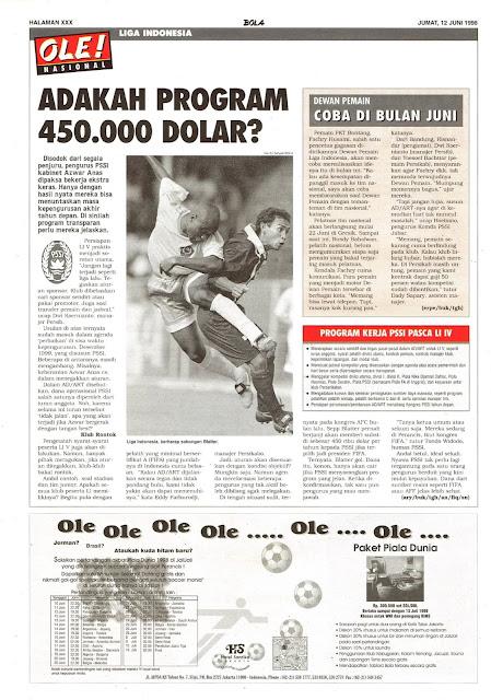 LIGA INDONESIA PROGRAM 450.000 DOLAR