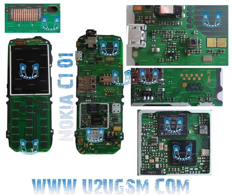 Cell Firmware: Nokia C101 Full PCB Diagram Mother Board Layout