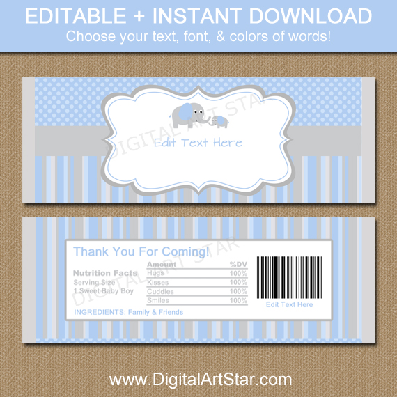 Editable candy wrapper just b cause for Candy bar wrappers template for baby shower printable free