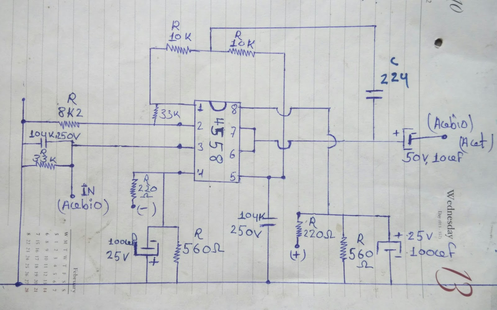 bass treble circuit diagram 4558 [ 1600 x 1000 Pixel ]