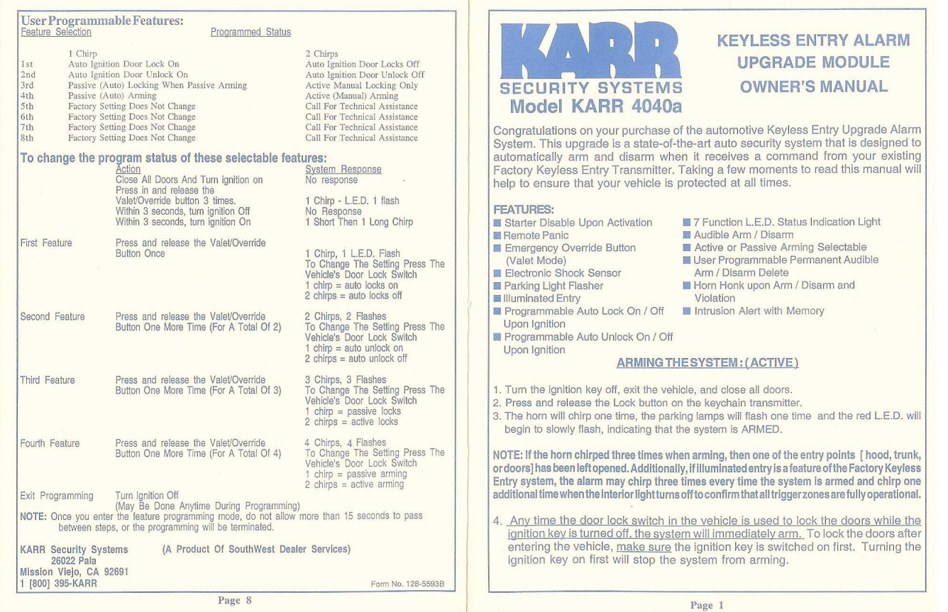 Karr Alarm 2040 Wiring Diagram Strawberry Plant Keyfobs Automotive Keyless Entry Remote Transmitters