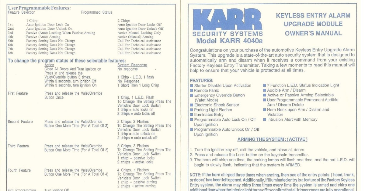 Diagram Karr Alarm Wiring Diagram