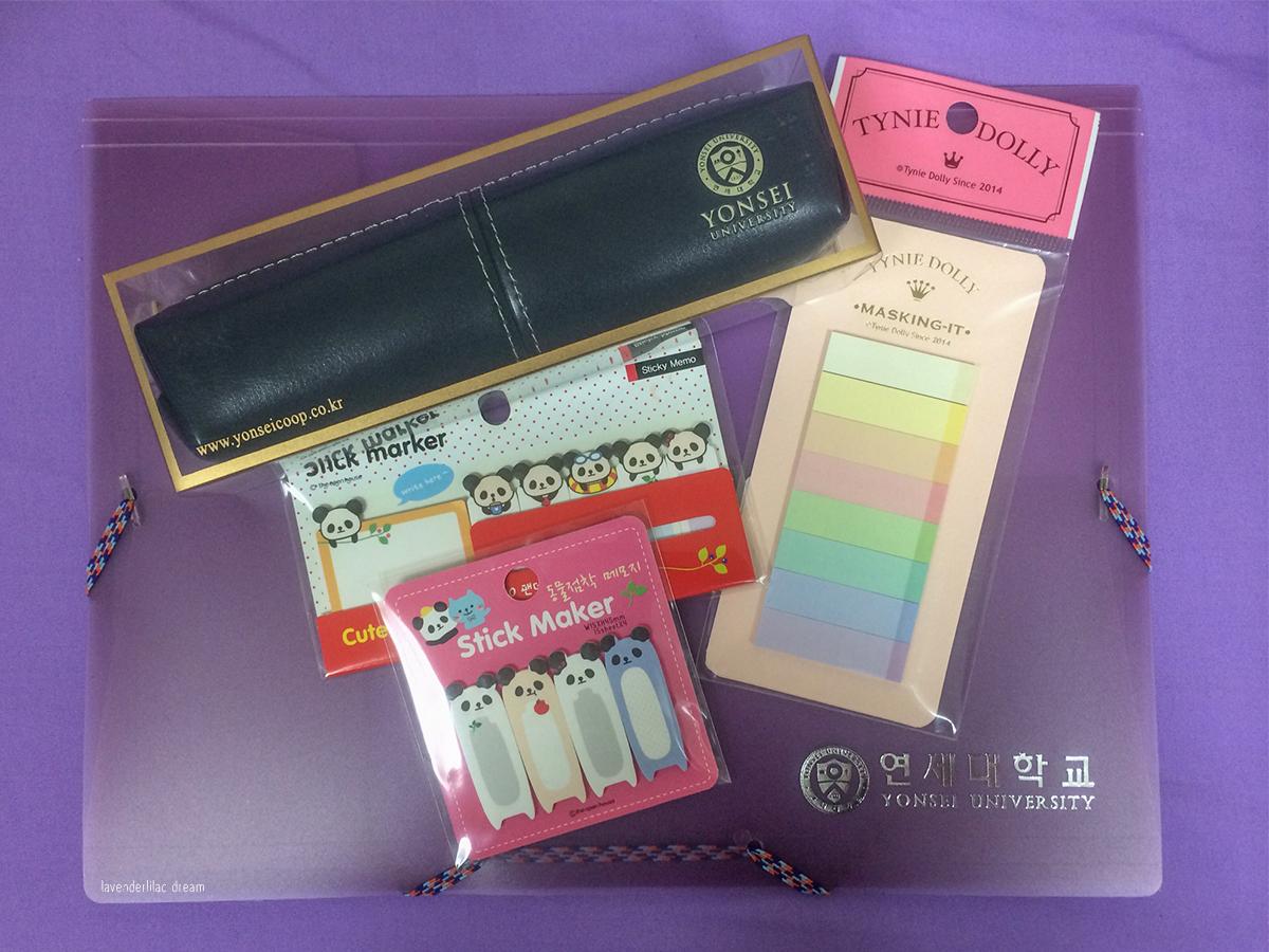 South Korea, Seoul, Sinchon, YISS 2014, Yonsei University, Stationary store buy