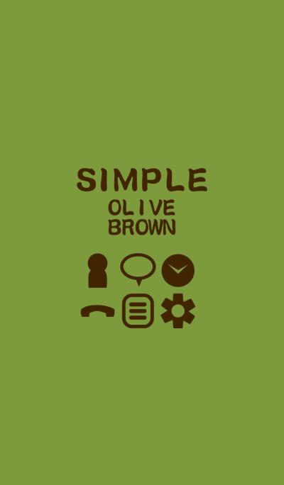 SIMPLE olive*brown*