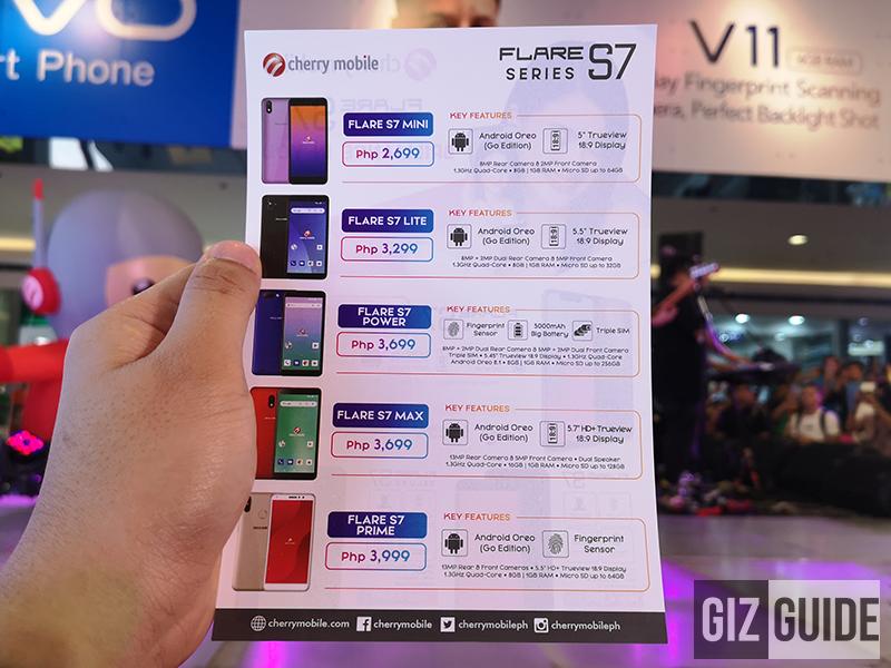 Breaking: Cherry Mobile Flare S7 Mini, Lite, Power, Max, and Prime announced!