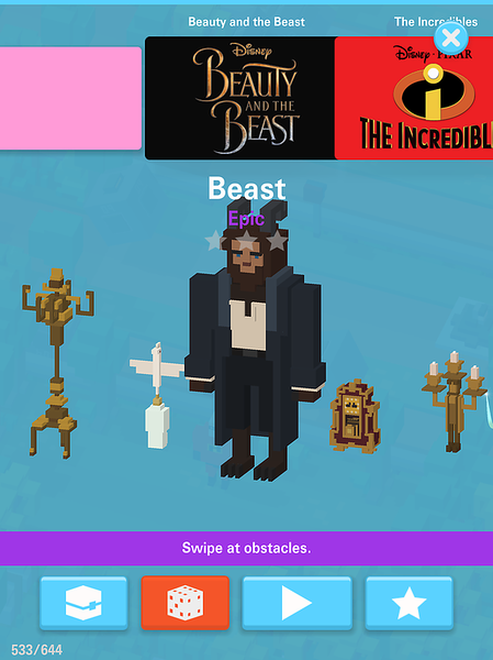 Disney apps Beauty and the Beast updates for Crossy Road Emoji
