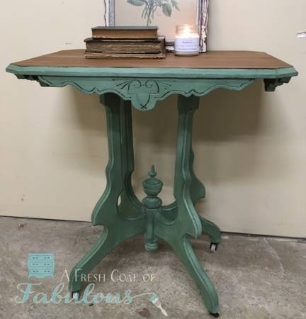 Now Here Is A Beautiful Example Of What Can Be Done To An Eastlake Table  Without Destroying It. Add Some Paint; Donu0027t Cut The Supports Off, ...