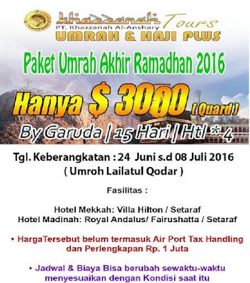 Paket Umroh Akhir Ramadhan By Garuda