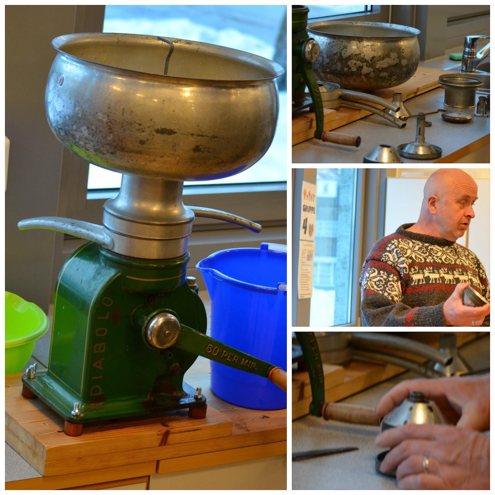 Dyra p g rden ysting av kvitost og koking av brunost for Garden separator