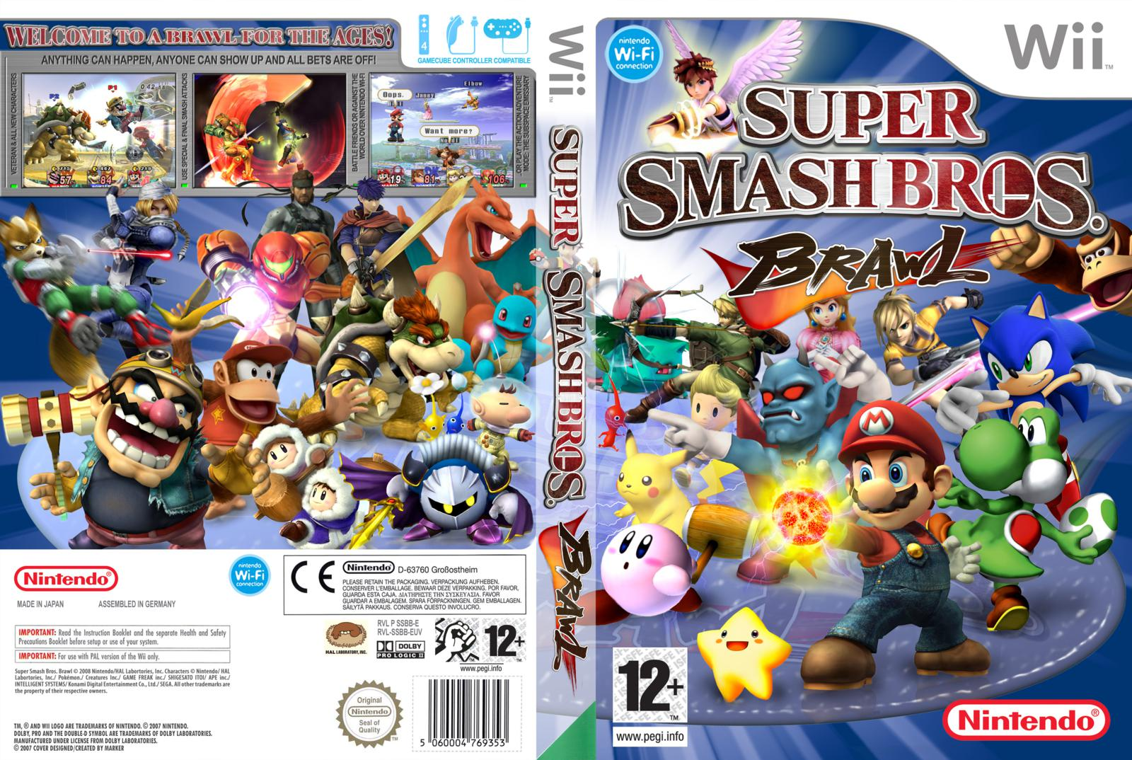Wii super smash bros brawl wbfs