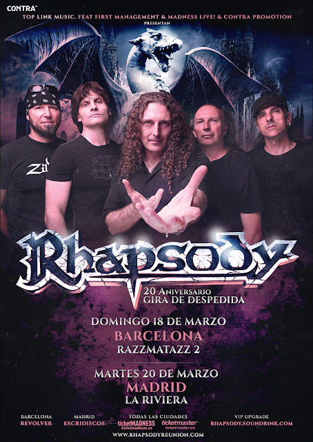 Rhapsody - Despedida en Madrid y Barcelona