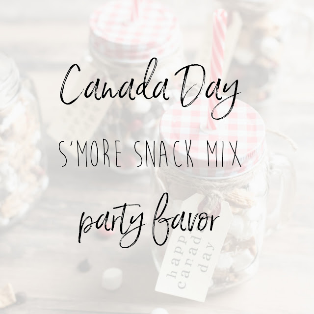 Canada Day S'more Snack Mix Party Favor Graphic