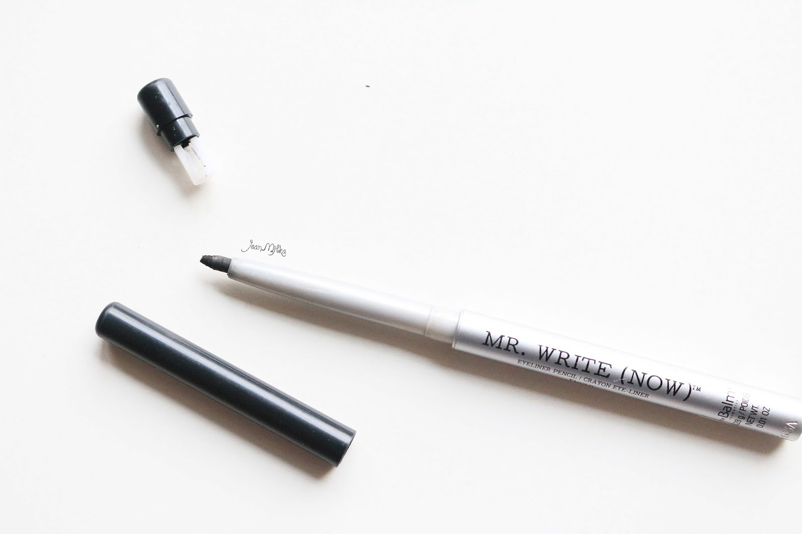 the balm, mr right now, black, review, swatches, eyeliner,