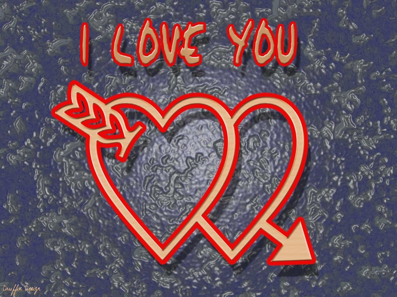 Kaligrafi i love you