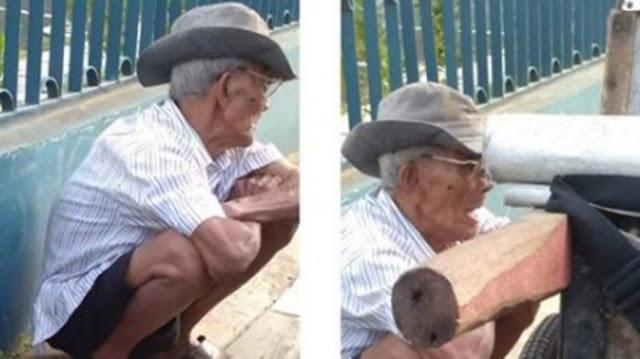 Trenyuh! Kakek Penjual Abu Gosok Ini Tetap Berpuasa Meski Berbuka dan Sahur Hanya Dengan Air Putih