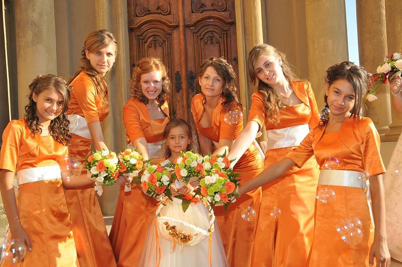 Golden Colour Wedding Gowns: Orange Bridesmaid Dresses : Have Your Dream Wedding