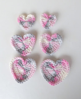 Crochet Applique Hearts
