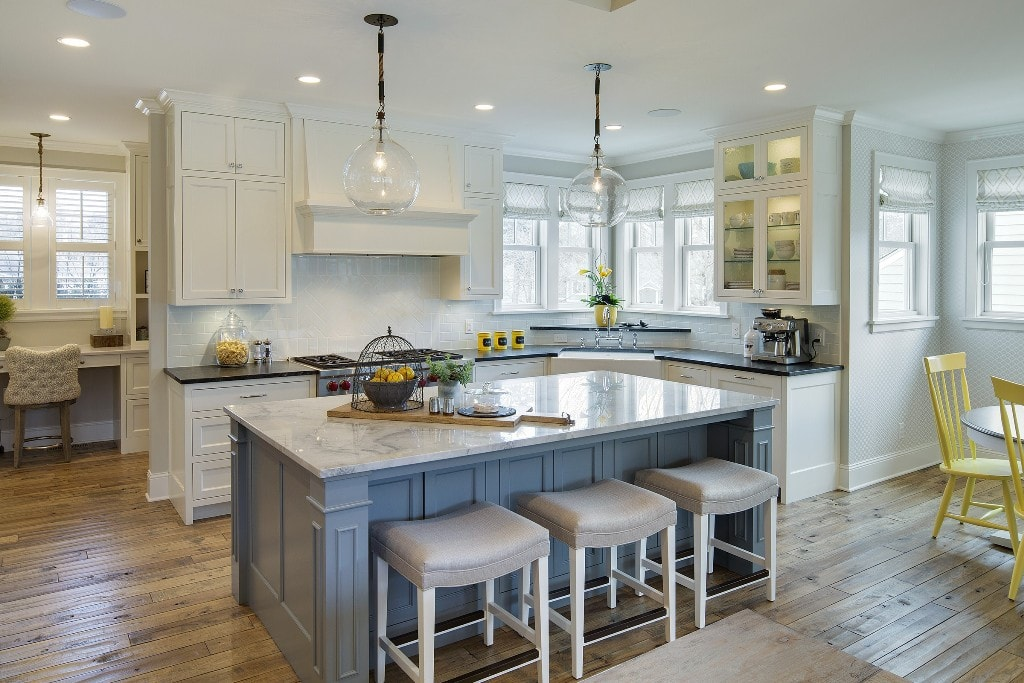 White Concrete Countertops Joanna Gaines