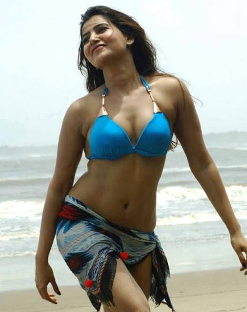 Samantha Stunning Photos in Bikini at Beach Navel Queens