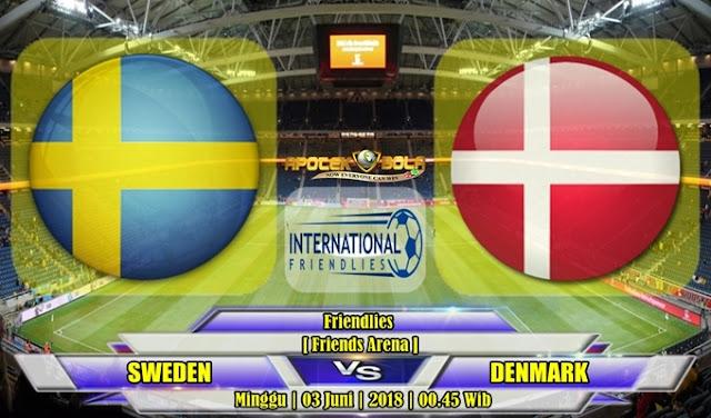 Prediksi Swedia vs Denmark 03 Juni 2018