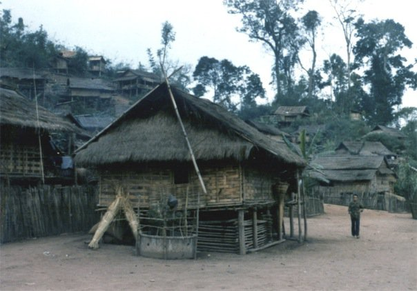 A mountain village in Nan, North Thailand (1985) by Jonathan Stiles