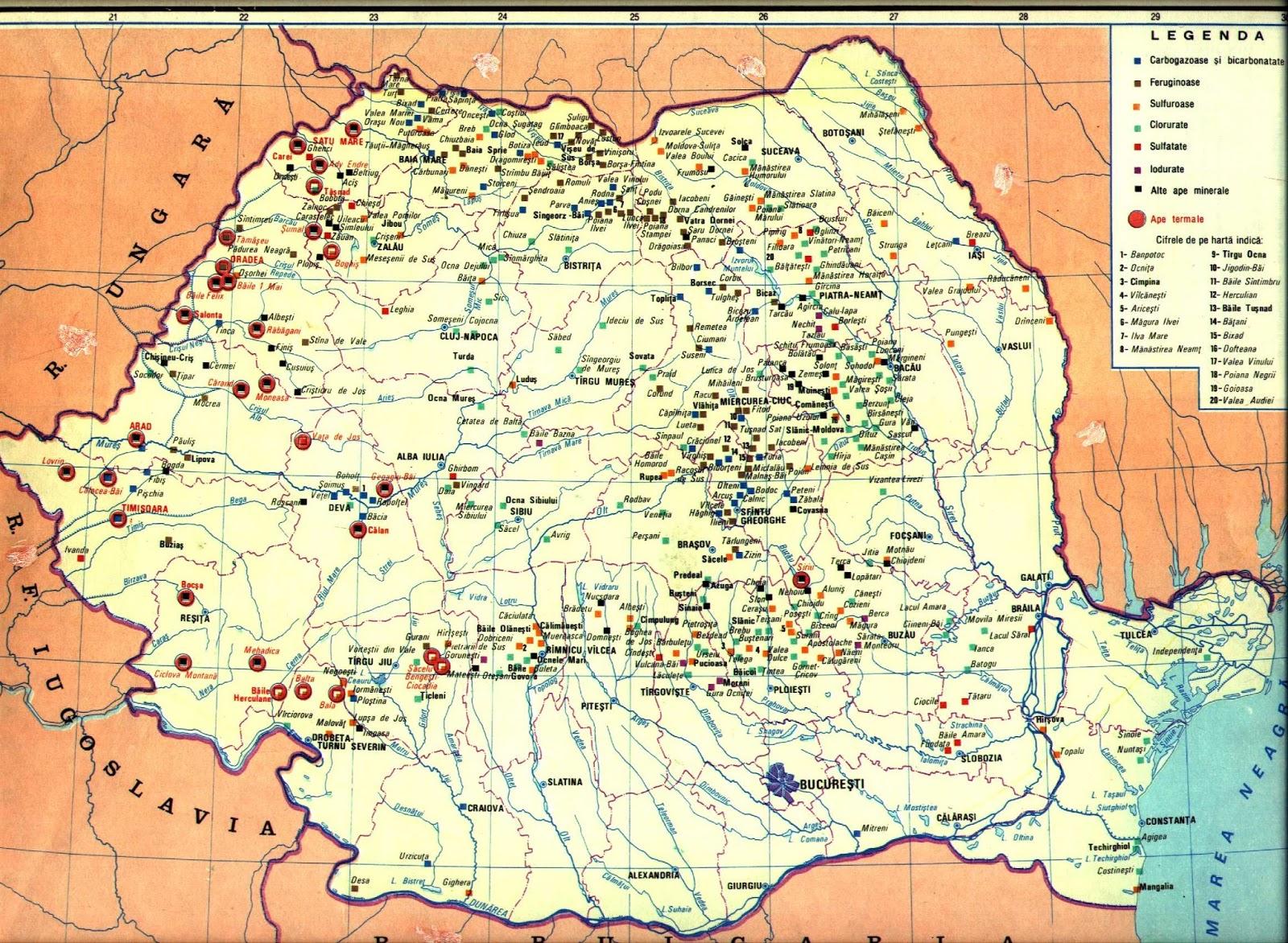 Geografilia Hărți Geografie Umană și Economică Romania