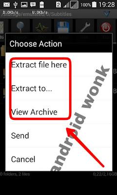 cara membuka file rar dan zip