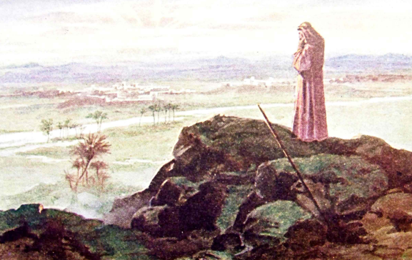 Moses on Mount Nebo - Artist unknown