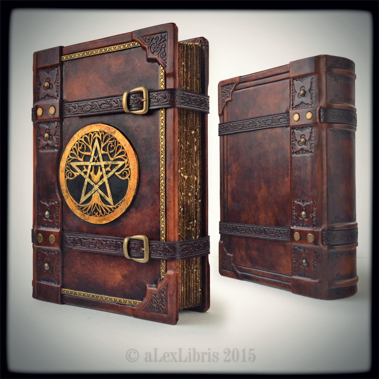 How To Make A Book Cover With Leather : Propnomicon the great grimoire