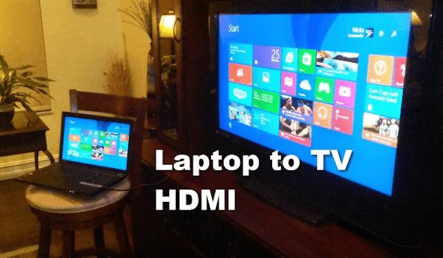 cara menyambungkan laptop ke tv dengan kabel hdmi