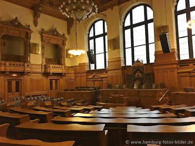 rathaus hamburg innen,Plenarsaal der Hamburgische Bürgerschaft