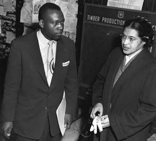 Photo: Rosa Parks (right) & Attorney, Charles Langford February 22, 1956 Photo: Academy of Achievement