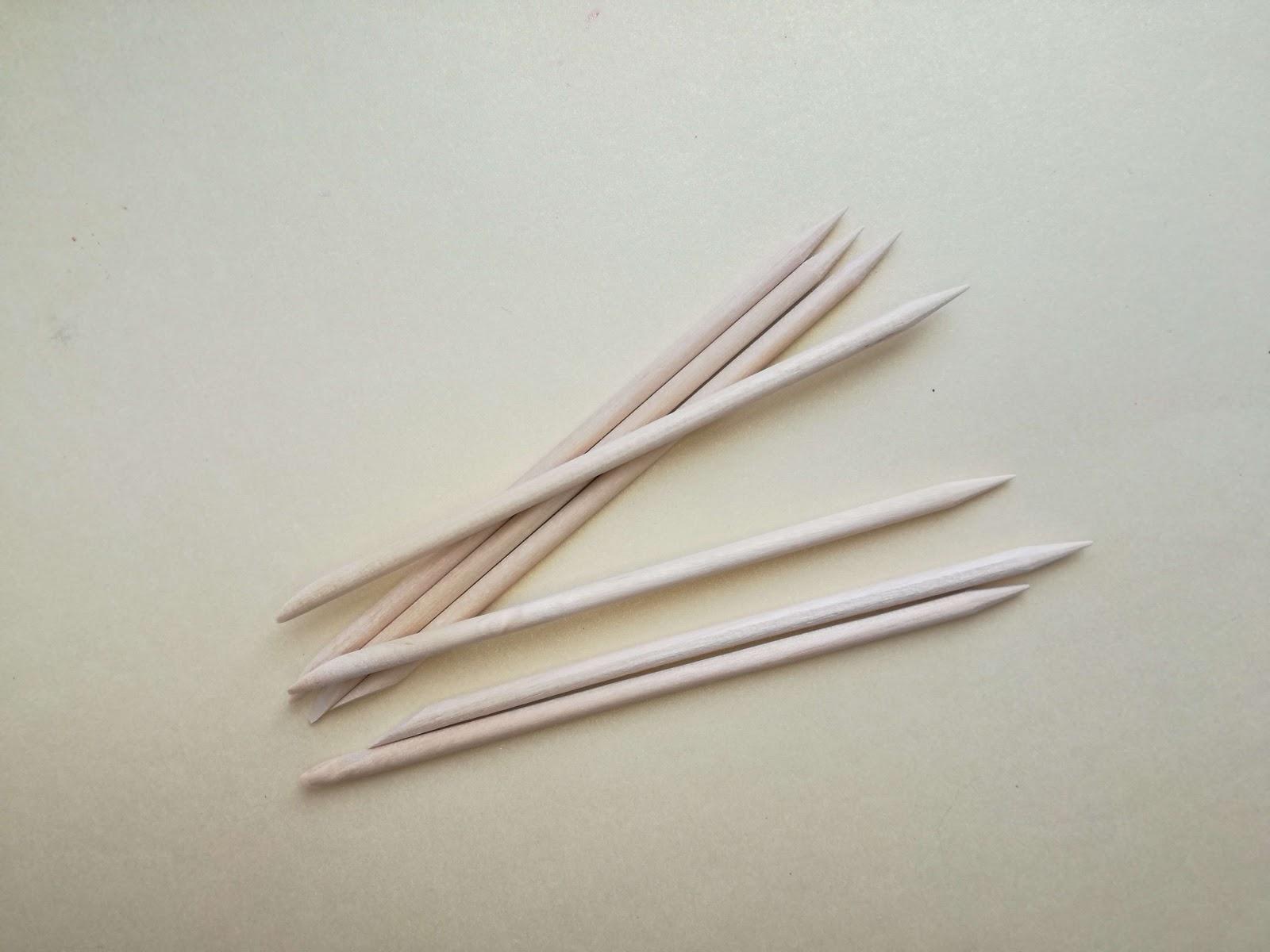 patyczki drewniane do skórek