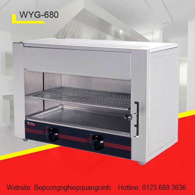 Lò nướng Salamander 2 họng GAS WYG-680
