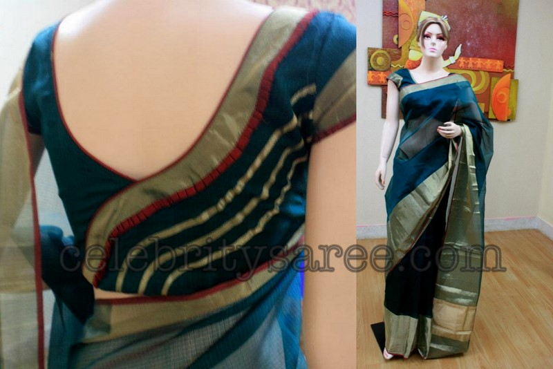 Kota Saree With Zari Border Saree Blouse Patterns