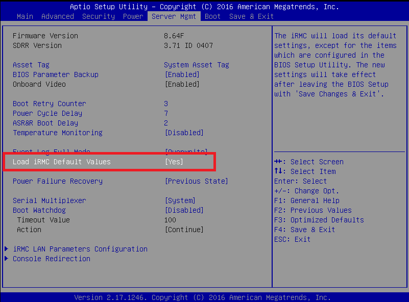 Masa's blog: How to reset iRMC admin password on Fujitsu PRIMERGY