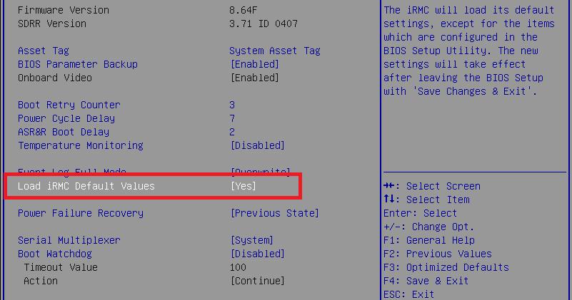 Masa's blog: How to reset iRMC admin password on Fujitsu