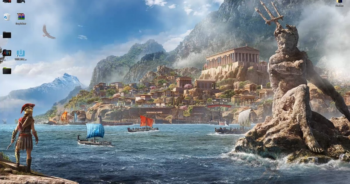 Anime 4k Wallpaper: Wallpaper Engine 4k Assassins Creed Odyssey Poseidon Free