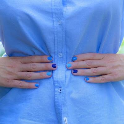 Summer Blue Nail