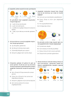 6. Sınıf Fen Bilimleri Ders Kitabı Cevapları Sevgi Yayınları Sayfa 34