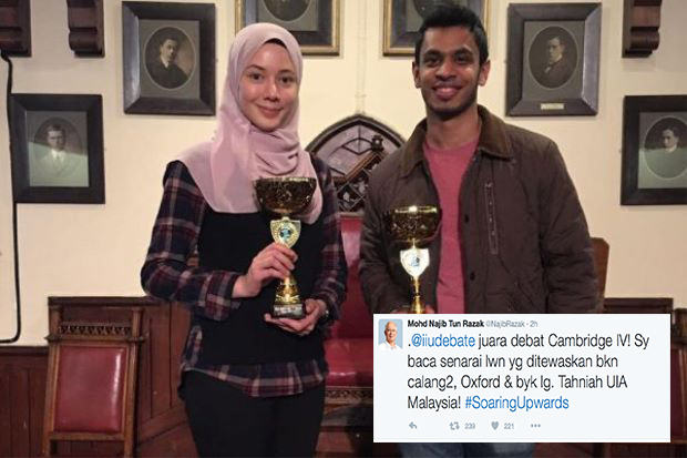 UIAM Muncul Juara Debat Antara Universiti (Cambridge IV), Najib Ucap Tahniah