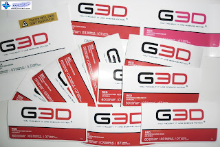 Bottle Sticker Labels for G3D Sys