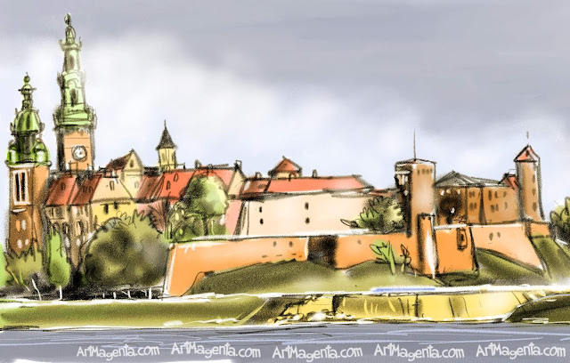 Krakow is a sketch by artist and illustrator Artmagenta