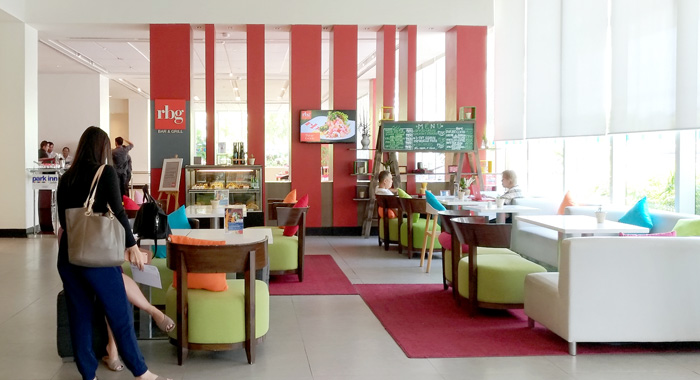 Modern and colorful lobby of Park Inn by Radisson Davao